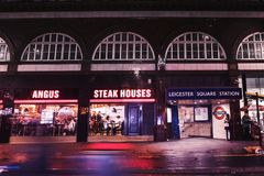 Angus Steak Houses-restaurant dichtbij de Vierkante Post van Leicester royalty-vrije stock foto