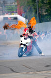Angyal Zoltan does a stunt show during SMAEB Royalty Free Stock Images