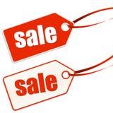 Anhänger beschrifteter Verkauf Lizenzfreies Stockbild