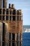 Anhäufungen am Pier Lizenzfreie Stockbilder