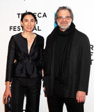 Anh Duong and Clifford Ross. French-bon painter/sculptor and Clifford Ross, a visual artist and painter/sculptor and professor, arrive at the red carpet at the Stock Photography