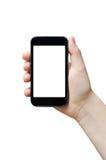 Anhalten des großen intelligenten Telefons Stockbilder