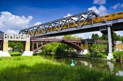 anhalter γέφυρα για πεζούς του &Be Στοκ Φωτογραφία