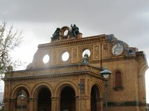 Anhalter Bahnhof i Berlin Royaltyfri Bild
