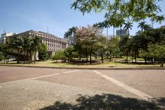Sao Paulo city, Anhangabau valley. Royalty Free Stock Photos