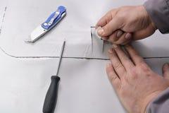 Anheben der Überschneidungsmembran Stockbild
