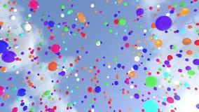 Anheben von Ballonen stock abbildung