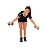 Anhebendes Gewicht des jugendlich Mädchens. Lizenzfreies Stockbild