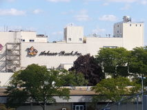 Anheuser-Busch brewery in Merrimack, New Hampshire. Is their easternmost, and one of their smallest plants in the United States. It is home to a brewery tour Stock Photography