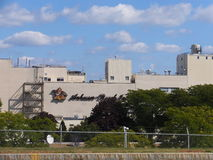 Anheuser-Busch brewery in Merrimack, New Hampshire. Is their easternmost, and one of their smallest plants in the United States. It is home to a brewery tour Royalty Free Stock Images