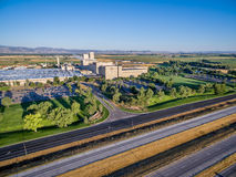Anheuser-Bush Brewery aerial view Stock Photography