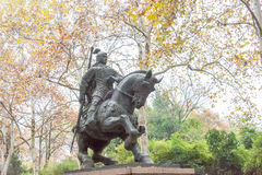ANHUI, ΚΊΝΑ - 23 Νοεμβρίου 2015: Άγαλμα Liao Zhang στο πάρκο XiaoYaoJin Στοκ Φωτογραφία