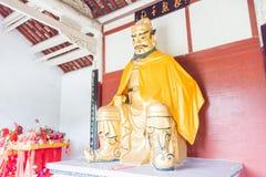 ANHUI, ΚΊΝΑ - 19 Νοεμβρίου 2015: Άγαλμα ZhangFei στο θέατρο AR λουλουδιών Στοκ Φωτογραφίες