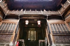 Anhui ancient houses. Anhui Province, China, has a unique ancient residence. These houses are wooden structures, not nails, all through tenon connection, very Stock Photography