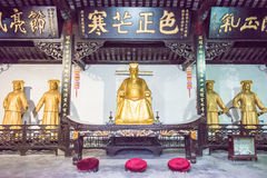 ANHUI, CHINA - 25 de noviembre de 2015: Templo de Baogong un si histórico famoso Foto de archivo libre de regalías