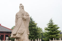 ANHUI, CHINA - 18. November 2015: Caocao-Statue an Caocao-Park ein famo Stockfoto