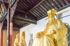 ANHUI CHINY, Nov, - 25 2015: Baogong świątynia sławny historyczny si Zdjęcie Royalty Free