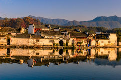 Anhui hongcun. Nearly a thousand years of history, preserved intact Ancient houses, known as the painting villages Royalty Free Stock Photo