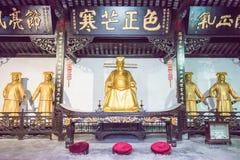 ANHUI KINA - November 25 2015: Baogong tempel en berömd historisk si Royaltyfri Foto