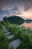 Anhui lakeside path Royalty Free Stock Photography