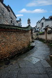 Anhui Yi Xian Hongcun alley. Hongcun is located in one of the six counties of Huizhou, Yixian County, northeast of the whole village with mountains and water Royalty Free Stock Photography