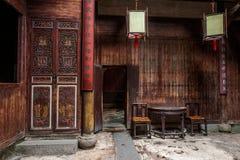 Anhui Yi Xian Hongcun Chengzhi Church Royaltyfria Foton