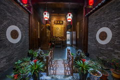 Anhui Yixian Hongcun the inn. Hongcun is located in one of the six counties of Huizhou, Yixian County, northeast of the whole village with mountains and water Royalty Free Stock Photography