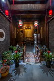 Anhui Yixian Hongcun the inn. Hongcun is located in one of the six counties of Huizhou, Yixian County, northeast of the whole village with mountains and water Royalty Free Stock Images