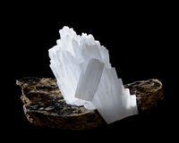 Anhydrite on mica Royalty Free Stock Photography