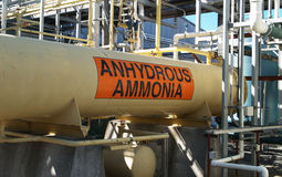 Anhydrous ammonia tank Royalty Free Stock Images