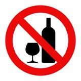 ani śladu alkoholu ilustracji