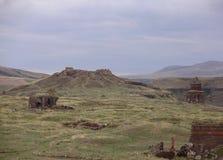 Ani ist eine Geisterstadt, verlassen für mehr als drei Jahrhunderte, die ehemalige Hauptstadt von Armenien stockbilder