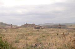 Ani ist eine Geisterstadt, verlassen für mehr als drei Jahrhunderte, die ehemalige Hauptstadt von Armenien stockfotografie