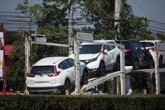 ANI Logistics Group-de Vrachtwagen van de drageraanhangwagen voor Honda-auto Stock Fotografie