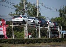 ANI Logistics Group-Fördermaschinenanhänger LKW für Honda-Auto Lizenzfreie Stockbilder