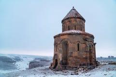 Ani Ruins Ani är en förstörd stad-plats som placeras i det turkiska landskapet av Kars arkivbild