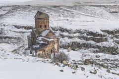 Ani Ruins nära den turkiska armeniska gränsen i Turkiet Fotografering för Bildbyråer