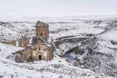 Ani Ruins nära den turkiska armeniska gränsen i Turkiet Arkivbilder