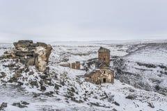 Ani Ruins nära den turkiska armeniska gränsen i Turkiet Royaltyfria Bilder