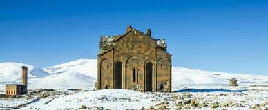 Ani Ruins Winter (gli ani di 4 stagioni) fotografia stock libera da diritti