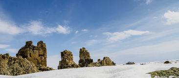 Ani Ruins Winter (gli ani di 4 stagioni) immagine stock libera da diritti