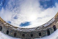 Ani Ruins Winter HDR (stagione 4) fotografie stock