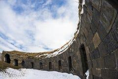 Ani Ruins Winter HDR (stagione 4) fotografia stock