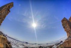 Ani Ruins Winter HDR (stagione 4) fotografia stock libera da diritti