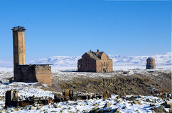 Ani Ruins Winter  Panorama (4 Season) Royalty Free Stock Photography