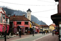 Anica del  de GraÄ la calle peatonal principal Imagen de archivo libre de regalías