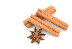 Anice and cinnamon Stock Image