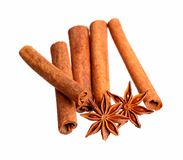Anice and cinnamon. Close-up. High resolution photo stock photos