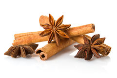 Anice and cinnamon Stock Images