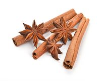 Anice and cinnamon Royalty Free Stock Images
